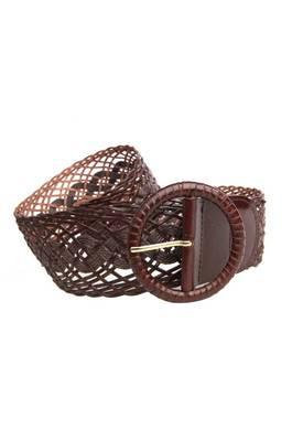Just Women - Glamorous Chocolate Womens Leather Belt