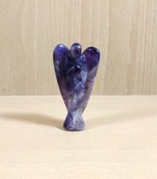 Buy Amethyst Gem Angel Size - 1 Inch Natural Gem Chakra  Aura Cleansing healing-stone online