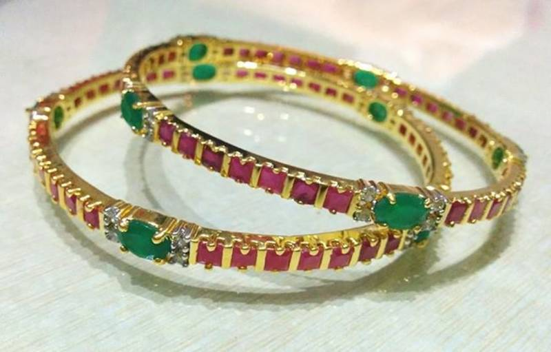 silk earring hangings green parrot jumka thread products kundan heavy set in bangle bangles stone jewelry color with yaalz
