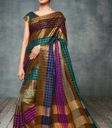 Buy Multicolor printed cotton silk saree with blouse all-seasons-saree online