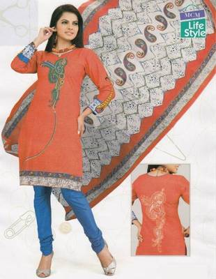Cotton Dress Material Elegant Designer Unstitched Suit D.No 2119