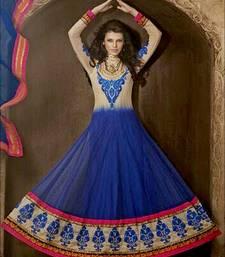 Buy Multicolor embroidered chiffon salwar anarkali-salwar-kameez online