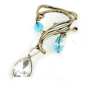 Mystic Blue Hanging Ear Cuff