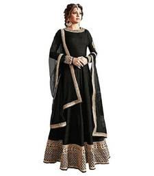 Buy Black thread embroidery bhagalpuri silk salwar bhagalpuri-silk-salwar-kameez online