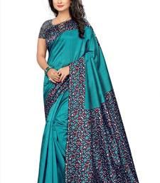 Buy Green printed art silk sarees saree with blouse kalamkari-saree online