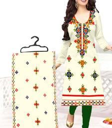 Buy White aari chanderi salwar chanderi-silk-salwar-suit online