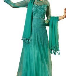 Buy Sea green embroidered net salwar wedding-salwar-kameez online