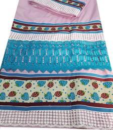 Buy Kromé blush pink coloured lace work semi stitched rida dress rida online