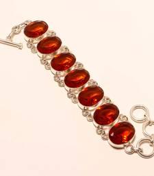 "Buy Golden topaz gemstone 925 silver handmade bracelet 7-8"" gemstone-bracelet online"
