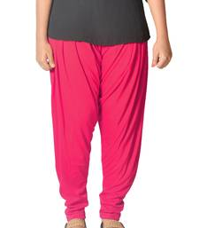 Buy Pink Solids Womens   wear patialas-pant online
