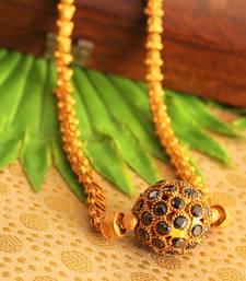 Buy Beautiful matte finish black ball designer chain -dj14229 Necklace online