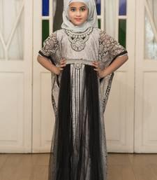 Buy Gray Partywear Style Children Kaftan Dress kids-kaftan online
