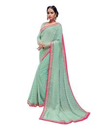 Buy Light green embroidered brasso saree with blouse brasso-saree online
