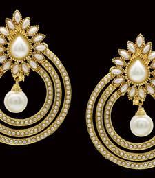 Buy ANTIQUE GOLDEN PEARLS HANGINGS danglers-drop online