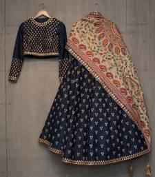 Buy Multicolor embroidered silk Semi stitched lehenga Choli with dupatta lehenga-choli online