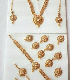 Buy Pearl 17 piece Bridal set in polki bridal-set online