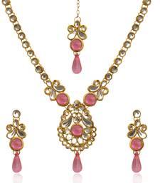 Buy Pink kundan necklace-sets necklace-set online