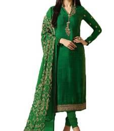 Buy Green embroidered crepe salwar crepe-salwar-suit online