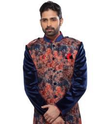 Buy Abhivani MULTI COLOURED color Chinese collar Sherwani for men wedding-sherwani online