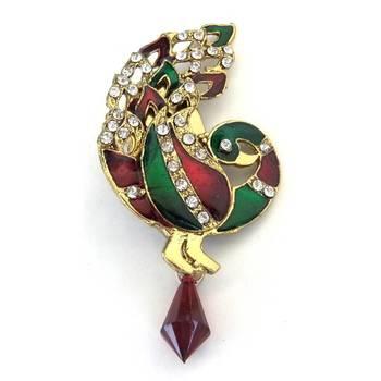 Peacock Saree-Pin/JW-668