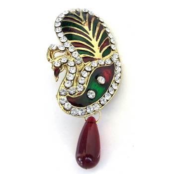 Peacock Saree-Pin/JW-669