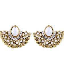 Buy Fashionable Chandbali Shape Gold Plated Stud Earring For Women stud online