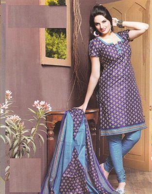 Cotton Dress Material Elegant Designer Unstitched Suit 11022