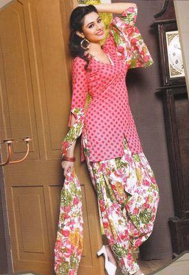 Cotton Dress Material Elegant Designer Unstitched Suit 11025