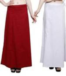 Buy red and white cotton petticoat petticoat online