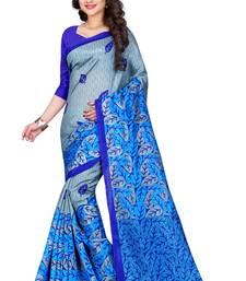 Buy Blue printed bhagalpuri silk saree with blouse bhagalpuri-silk-saree online