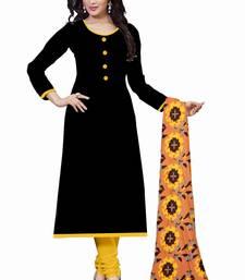 Buy Black plain cotton salwar cotton-salwar-kameez online