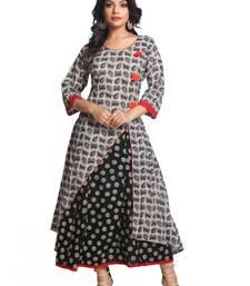 Buy Multicolor hand woven cotton stitched kurti kurtas-and-kurtis online