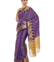 Buy Chhabra 555 Purple Woven Art Silk Sarees With Blouse all-seasons-saree online