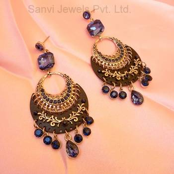 Blue & Black Designer Earrings