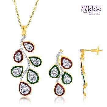 Sukkhi Traditional Meenakari Gold and Ro
