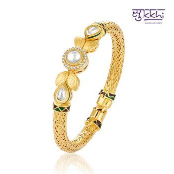 Sukkhi Kundan-CZ Gold and Rhodium plated