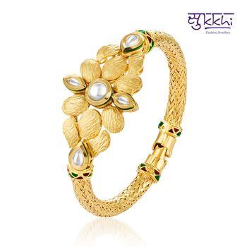 Sukkhi Kundan-CZ Gold plated Fine Deligh