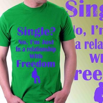 Freedom Mens Slogan Tshirt
