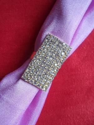 rectangle golden diamond ring