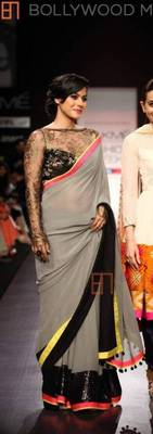 Kajol Grey Saree