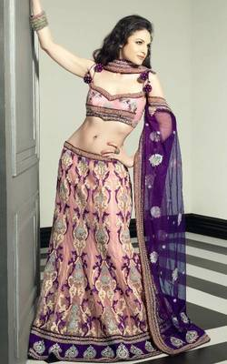 Beautiful Pink Heavy Lahenga King 5716