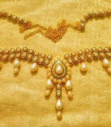 Buy White Pearls Waist Belt Kamarband Ethnic Wedding Jewelry waist-belt online