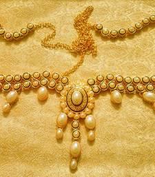 Buy White Pearls Waist Belt Kamarband Ethnic Wedding Jewelry waist-belt online