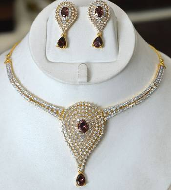 Rhodolite Diamond Set