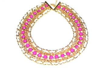 Neon choker necklace(pink)