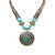 Turquoise Gold Tubes Tibetean Necklace