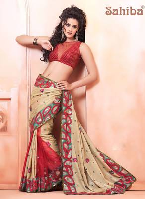 GLEE EMBROIDERED DESIGNER SAREE 7614