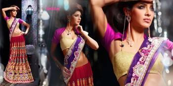 Ghunghroo Designer Lahenga Sari 7701