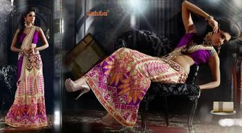 Ghunghroo Designer Lahenga Sari 7713