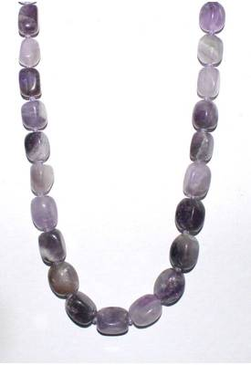 Tumbled  Genuine Amethyst Necklace